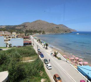 Blick richtung Westen Hotel Corissia Beach