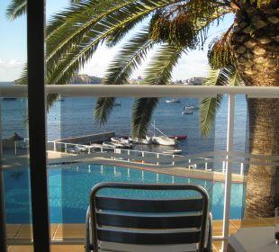 Der Blick vom Bett aus! Hotel Simbad
