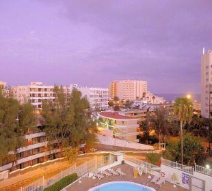 Ausblick vom Balkon, Zimmer 407 Hotel Dorotea
