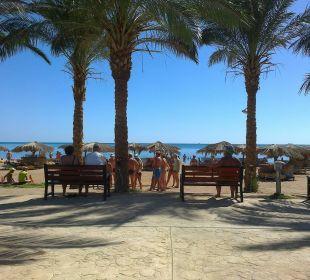 Blick von der 1. Beachbar auf den Strand