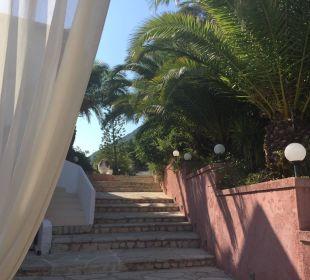 Blick von der Außenterasse Marilena Sea View Hotel
