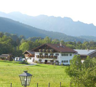 Ausblick zur schlafenden Hexe Gästehaus Watzmannblick