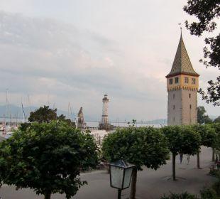 Blick von der Restaurant-Terrasse Hotel Lindauer Hof
