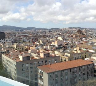 Blick über Barcelona von der Dachterrasse  Hotel Andante