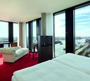 Juniorsuite Riverview Empire Riverside Hotel Hamburg