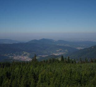 Blick vom Blick vomHochlohturm Richtung Nordwesten Pension Rehblick