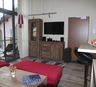 Wohnzimmer Apartments Ferienparadies Alpenglühn