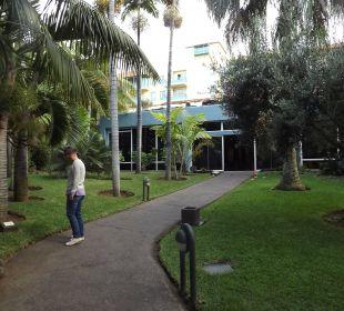 Der Weg zur Rezeption Hotel Hacienda San Jorge
