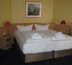 Bett in der Suite Europa Hotel Kühlungsborn