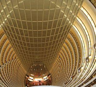 Blick von oben in die Lobby Hotel Grand Hyatt Shanghai