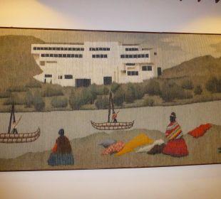 Wandteppich, gestickt Hotel Libertador Lago Titicaca