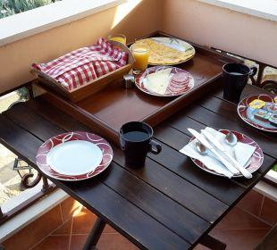 Frühstück auf dem Balkon Apollon Xenonas Apparthotel