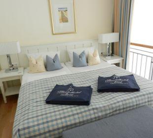 Schlafempore mit begehbarem Schrank (rechts) Strandhotel Kurhaus Juist