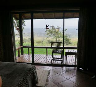 Unbezahlbarer Blick zum Lake Nakuru Hotel Lake Nakuru Lodge