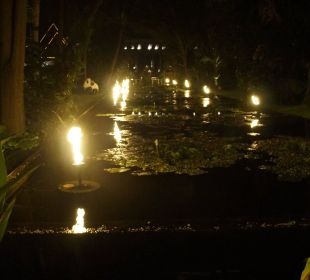 Mit fackeln beleuchtet Anantara Bophut Koh Samui Resort