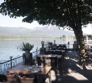 Gastgarten am See unter Linden- u. Kastanienbäume Seeböckenhotel Zum weissen Hirschen