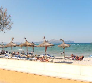 Gleich am Hotel ist der Strand. JS Hotel Ca'n Picafort