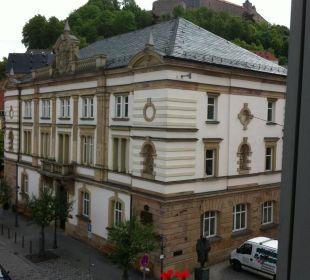 Blick auf die Plassenburg Hotel Weißes Roß