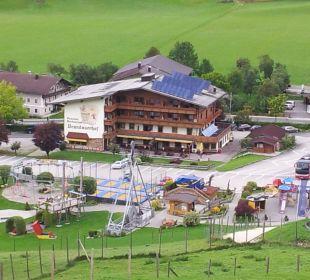 Aussicht von oben Hotel Brandauerhof