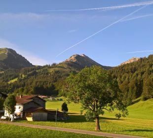 Frühmorgen Blick vom Balkon Pension Alpenblick