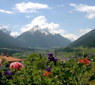 Blick vom Balkon oder Garten im Frühling Pension Schottenhof