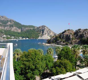 Blick vom Balkon auf die Bucht von Turunc Hotel Turunc