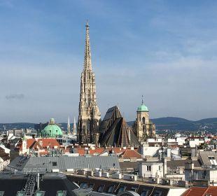 Blick vom Balkon Hotel Am Parkring