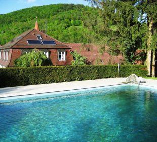 Blick vom Pool Hotel Schloss Döttingen