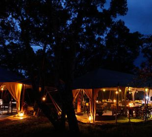 Camp bei Nacht Mara Bush Camp