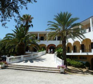 Eingangsbereich Vorderseite Hotel Paradise Corfu
