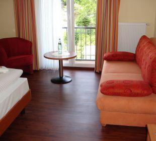 Doppelzimmer mit Schlafcouch Pension Sanddorn