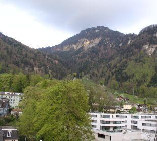 Blick zu den Bergen Hotel Vitznauerhof