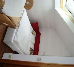 Kinderschlafbereich im Appartement Hotel Mühlenhof
