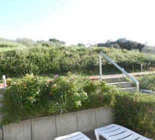 Terrasse mit Blick in die Dünen Strandhotel Kurhaus Juist