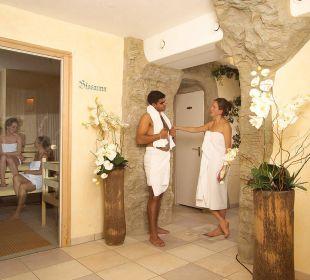 Grosszügiger Saunabereich Die Gams Hotel - Resort