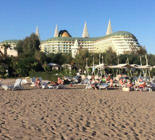 Blick vom Strand Hotel Delphin Imperial
