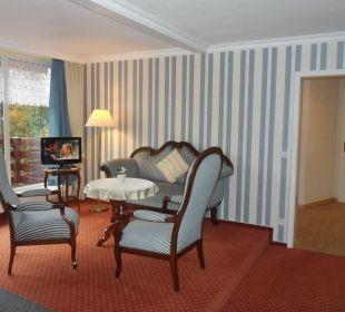 Suite Wohnraum Gästehaus Linde