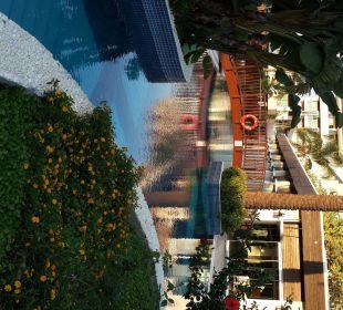 Brücke an die Terrasse des Hotelrestaurants Sunis Hotel Evren Beach Resort & Spa
