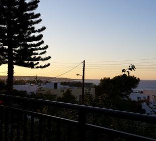 Blick vom Blick in der Dämmerung Hotel Dimitra
