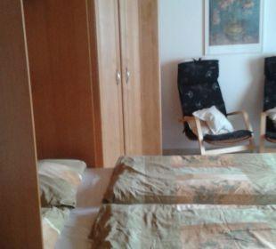 Bett augeklappt Appartementhaus Dittrich
