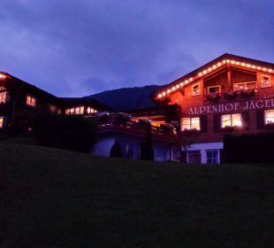 Alpenhof Jäger bei Nacht Hotel Alpenhof Jäger