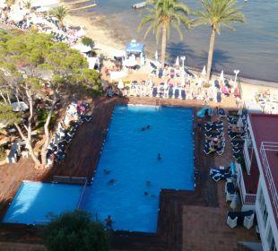 Vom Balkon mit Meerblick aus dem 7. Stock fotograf Fiesta Hotel Milord