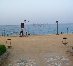 Animacje na plaży - fire show Sphinx Aqua Park Beach Resort