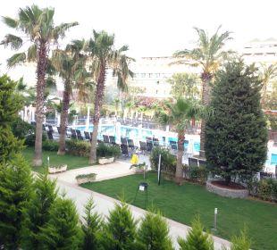 Ausblick aus unserem Zimmer Belek Beach Resort Hotel