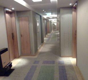 Flur in der 17.Etage Hotel Neptun