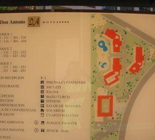 Plan der Anlage Hotel Don Antonio