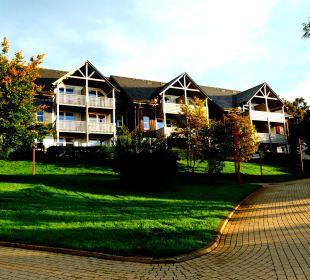 Blick auf eine der Reihenhäuserzeilen Hapimag Resort Winterberg