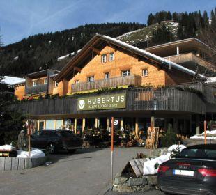 Aussenansicht im Winter 2015 Hubertus Alpin Lodge & Spa