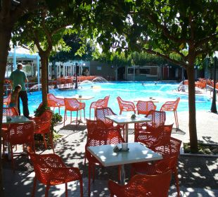 Gartenrestaurant mit Pool Hotel Corissia Beach