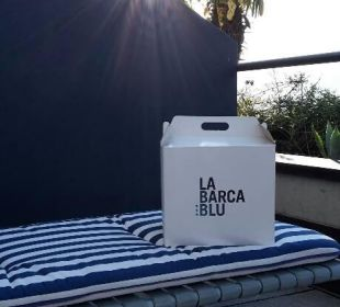 Colazione in der Box La Barca Blu  Hotel